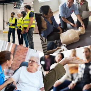 Employees in workplace training courses for Warehouse & Operations & Disability First Aid
